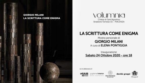 Volumnia ospita la personale di Giorgio Milani, La scrittura come enigma.
